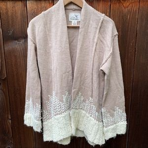 Anthropologie Tabitha Rising Snowdrops Cardigan